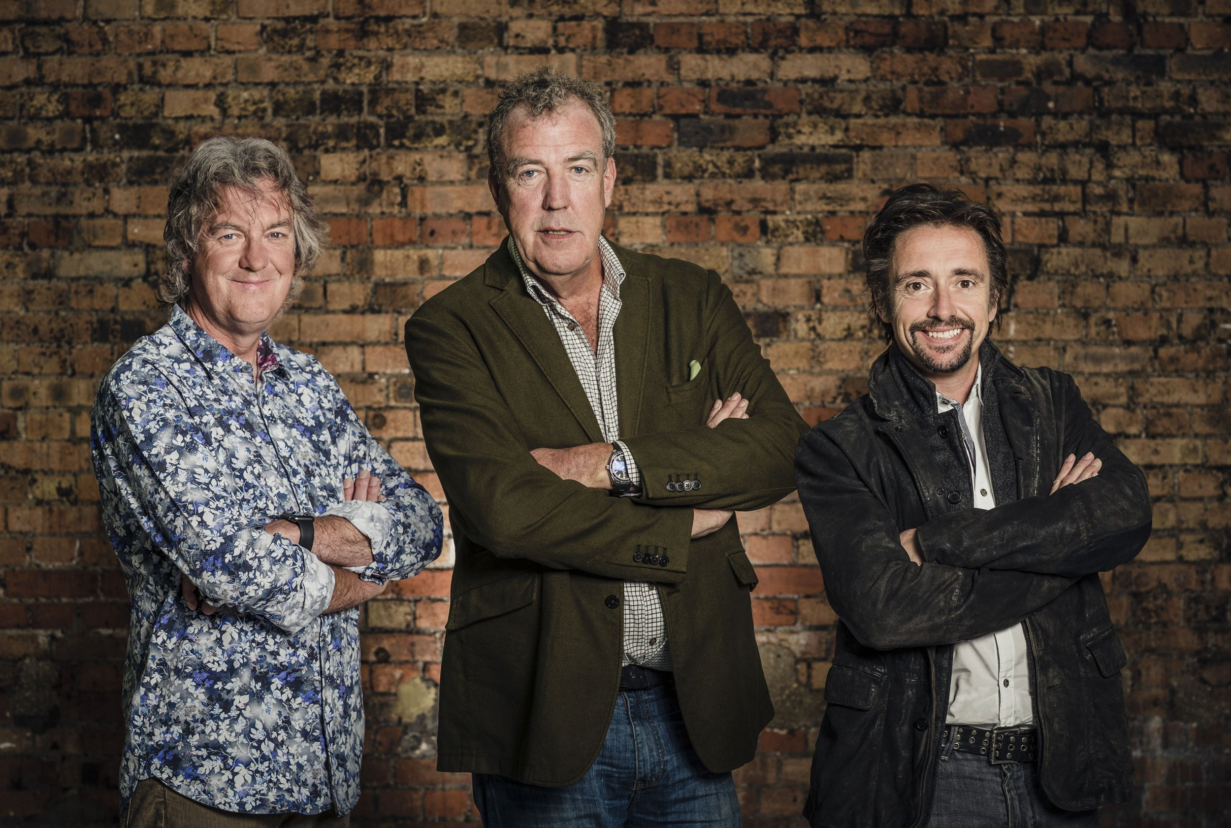 (L - R) Presenters James May, Jeremy Clarkson and Richard Hammond strike a pose during filming of The Grand Tour. Undated handout file photo issued by Amazon of (left to right) James May, Jeremy Clarkson and Richard Hammond during filming of The Grand Tour, as the debut episode of the show set a new streaming record for Amazon Prime Video, the company has said. PRESS ASSOCIATION Photo. Issue date: Tuesday November 22, 2016. The Former Top Gear stars Clarkson, Hammond and May's new effort has become the subscription service's biggest premiere, beating previous number one show on the service, 2015's The Man In The High Castle. See PA story SHOWBIZ GrandTour. Photo credit should read: Amazon Prime Video/PA Wire NOTE TO EDITORS: This handout photo may only be used in for editorial reporting purposes for the contemporaneous illustration of events, things or the people in the image or facts mentioned in the caption. Reuse of the picture may require further permission from the copyright holder.