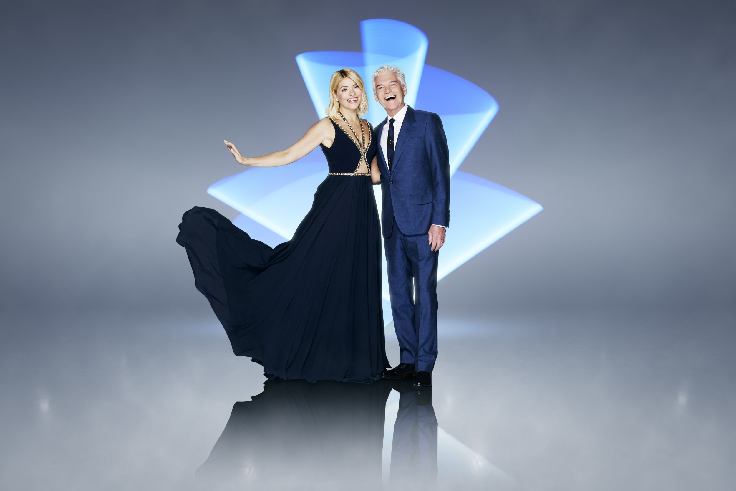 This image is strictly embargoed until 00.01 Friday 28th December 2018 From ITV Studios Dancing On Ice: SR11 on ITV Pictured: Holly Willoughby and Phillip Schofield. This photograph is (C) ITV Plc and can only be reproduced for editorial purposes directly in connection with the programme or event mentioned above, or ITV plc. Once made available by ITV plc Picture Desk, this photograph can be reproduced once only up until the transmission [TX] date and no reproduction fee will be charged. Any subsequent usage may incur a fee. This photograph must not be manipulated [excluding basic cropping] in a manner which alters the visual appearance of the person photographed deemed detrimental or inappropriate by ITV plc Picture Desk. This photograph must not be syndicated to any other company, publication or website, or permanently archived, without the express written permission of ITV Picture Desk. Full Terms and conditions are available on the website www.itv.com/presscentre/itvpictures/terms For further information please contact: james.hilder@itv.com / 0207 157 3052
