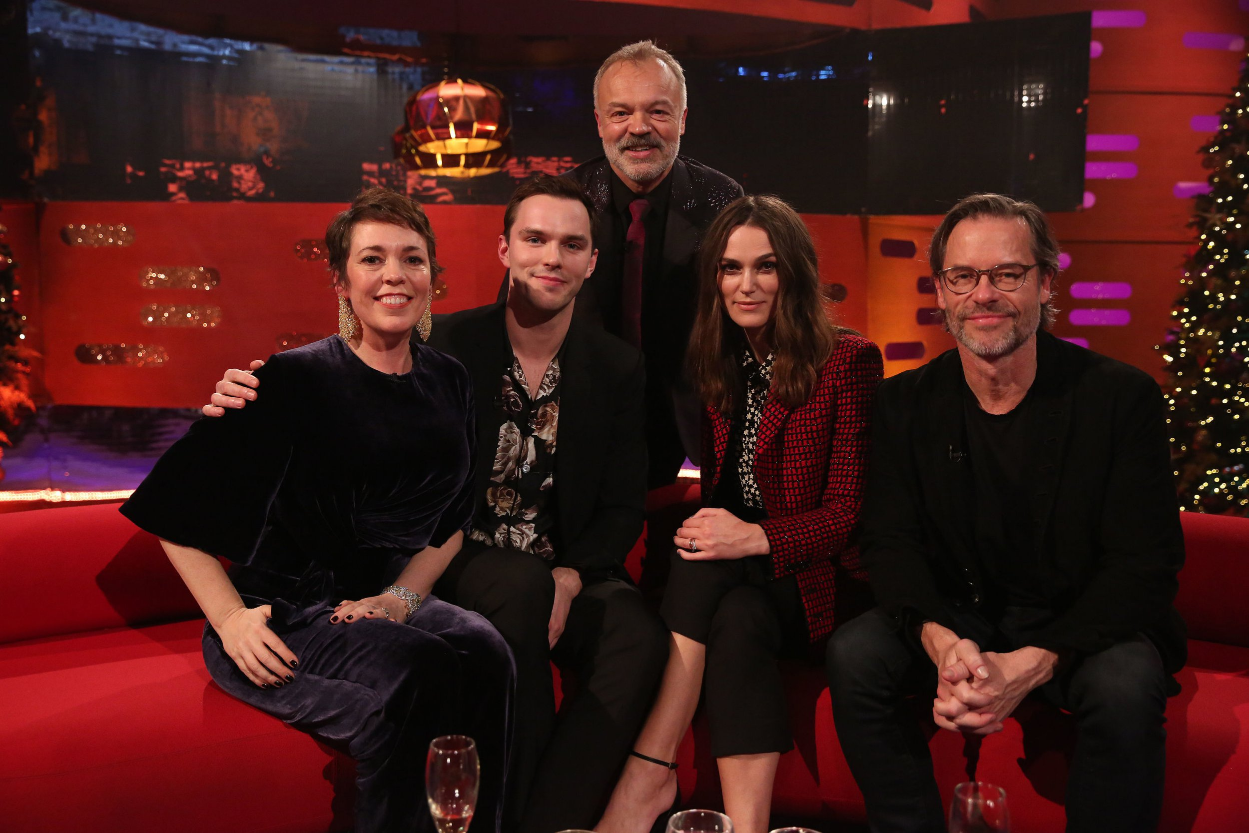 What time is Graham Norton's New Year's Eve special on tonight and what celebrities are on it?