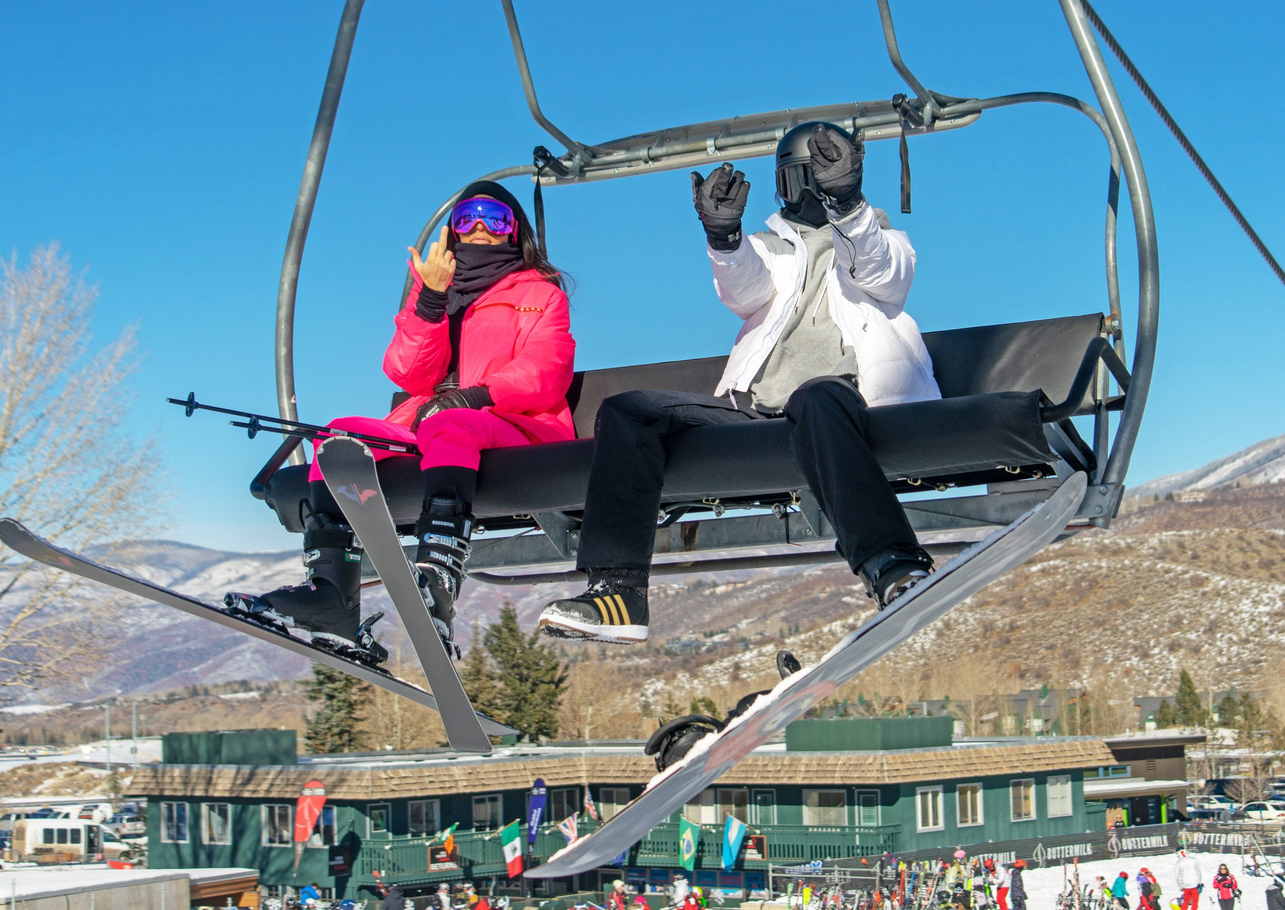 Kendall Jenner sleighs in bikini on skiing trip with Kim