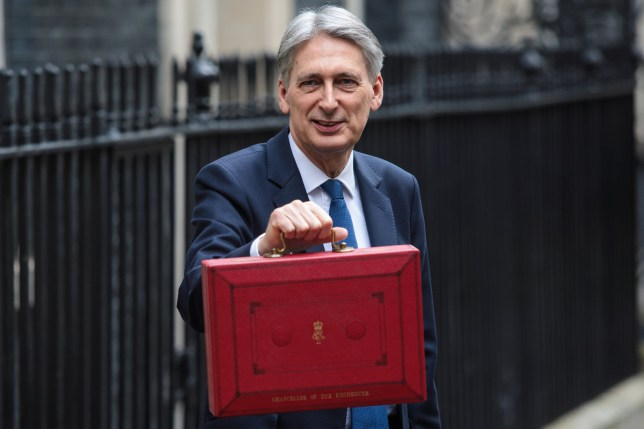British Chancellor of the Exchequer Philip Hammond presents the budget