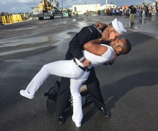 Picture: MetroGrab Sailors gay kiss Taken without permission: https://www.facebook.com/bryan.woodington