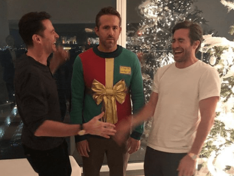Ryan Reynolds gets pranked by Jake Gyllenhaal and Hugh Jackman and it's a real Christmas cracker