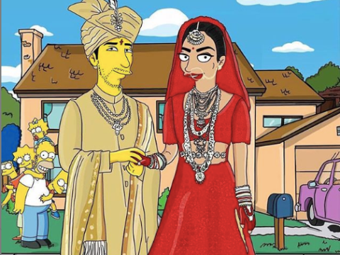 Nick Jonas and Priyanka Chopra's wedding pictures get immortalised in the realm of The Simpsons