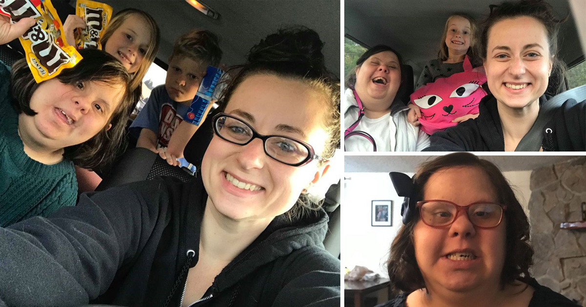 Young mum adopts her aunt with Down's syndrome after grandad dies in car crash