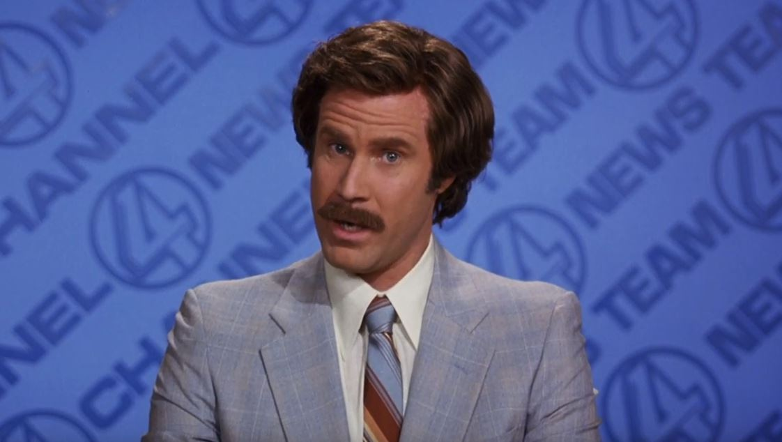 Ron Burgundy is officially back with a new podcast (Picture: YouTube)