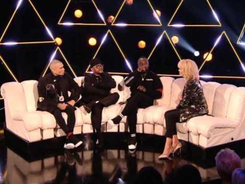 Joanna Lumley hosted a Black Eyed Peas anniversary special and everyone's baffled beyond belief