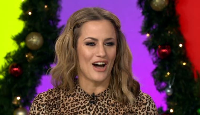 Caroline Flack shows off her singing on Loose Women and she has got some pipes