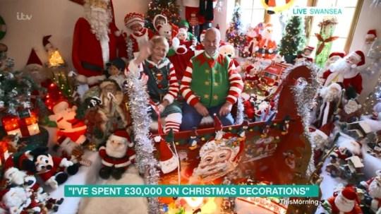 Elton John Christmas Ornament.Grandmother Who Has Spent 30 000 On Christmas Decorations
