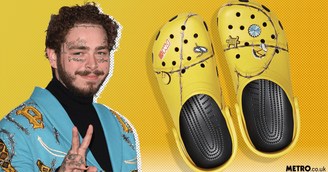 Post Malone's disgusting crocs sell out in 10 minutes