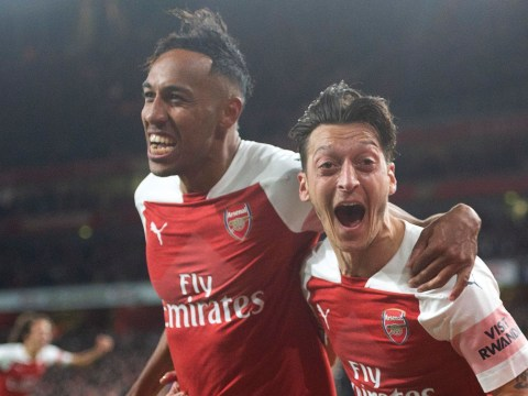 Arsenal players including Mesut Ozil and Pierre-Emerick Aubameyang seen appearing to inhale laughing gas at party