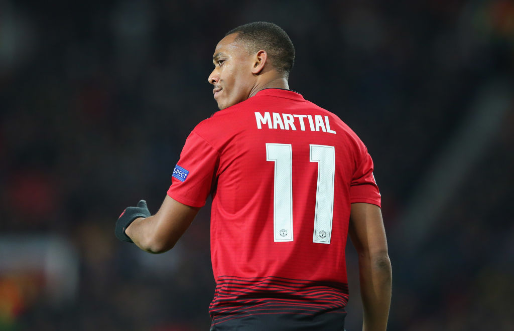 Jose Mourinho drops Anthony Martial to the bench for Man Utd's trip to Southampton