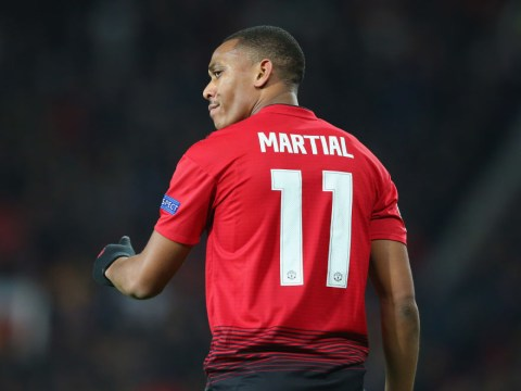 Jose Mourinho drops Anthony Martial to the bench for Man Utd's trip to Southampton