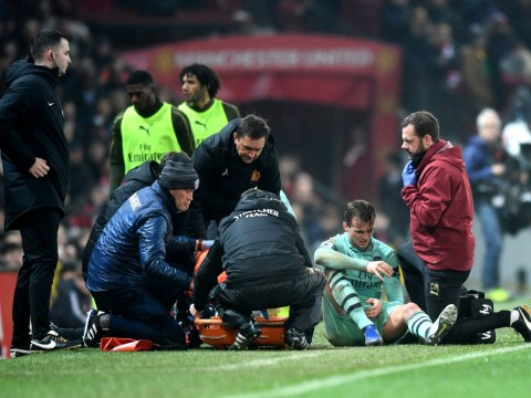 Unai Emery confirms Arsenal fears over Rob Holding's injury at Old Trafford