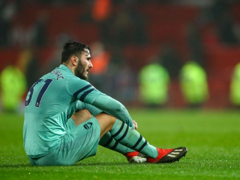 What Unai Emery told Sead Kolasinac after Arsenal defender's error gifts Manchester United a point