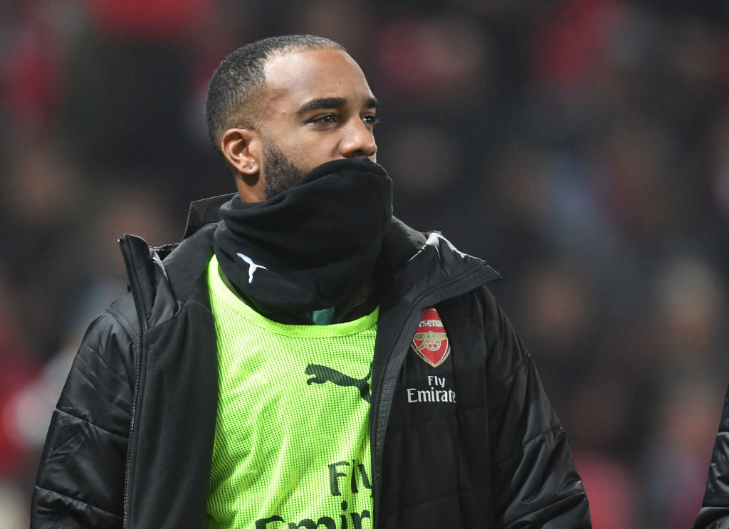 Alexandre Lacazette not happy over goal review in Arsenal's draw with Manchester United