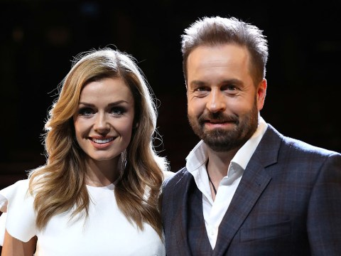 What did Alfie Boe write about Katherine Jenkins? The feud goes on after Boe defaces poster