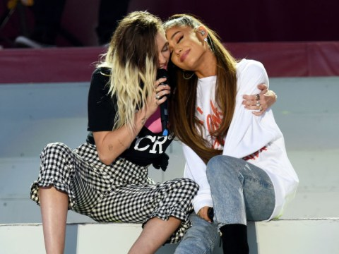 Miley Cyrus is a total fangirl for Ariana Grande and 'trying' to become best friends with the singer