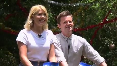 Holly Willoughby points out I'm A Celebrity gaffe as Fleur East and James McVey take on Bushtucker trial