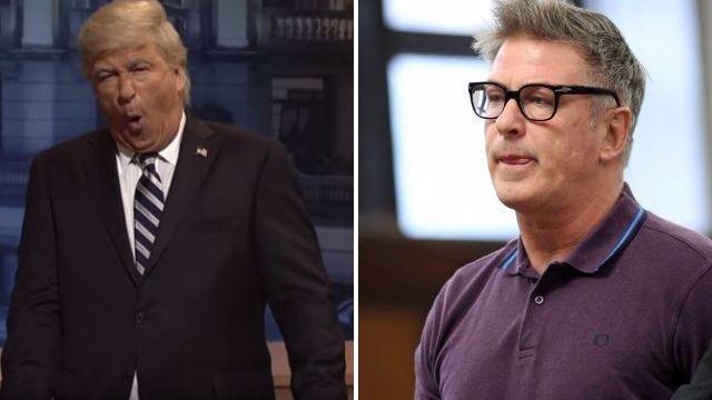Alec Baldwin jokes about assault charges as he returns to SNL as Donald Trump