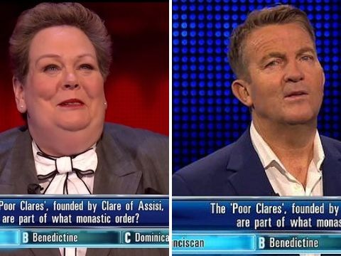 Anne Hegerty gets 'nuts caught in my throat' in rude The Chase outtake