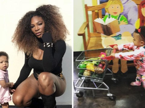 Serena Williams shares adorable snap of daughter Olympia on a shopping trip and we can't handle it