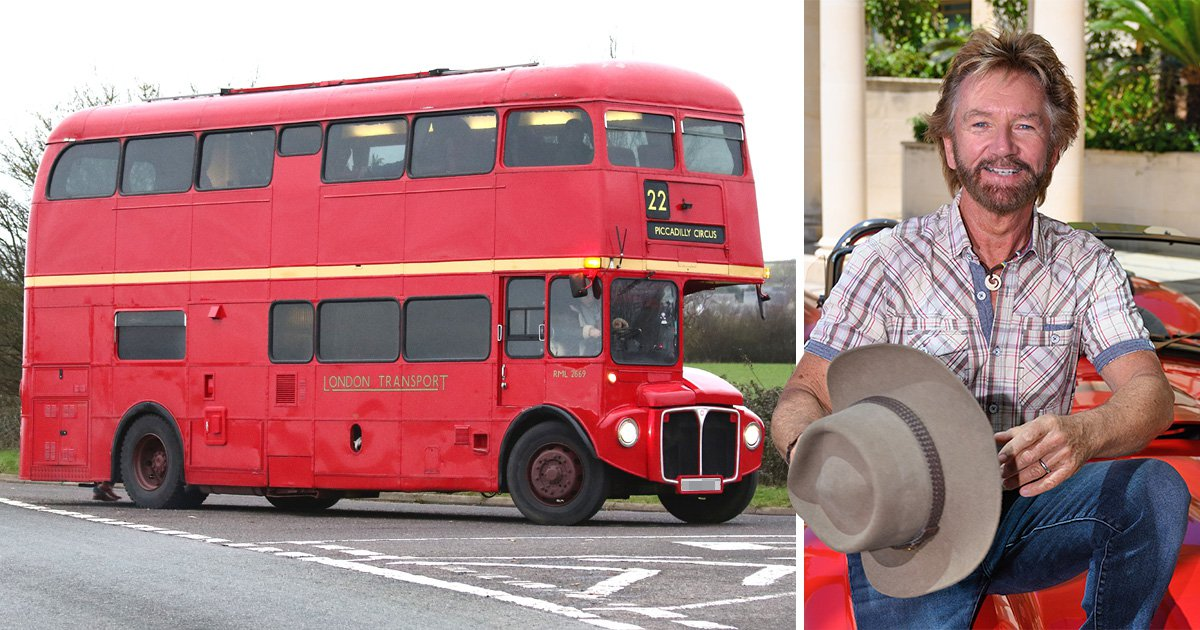 Noel Edmonds may enrage Bath residents as he reveals he parks his double decker at bus stops