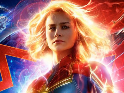 Where is Captain Marvel set, and when is the film finally coming out in the UK?