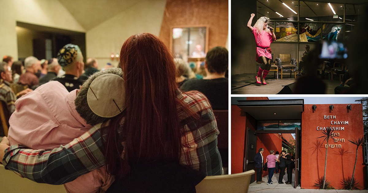 Photos show a year behind the scenes at the world's first LGBT synagogue