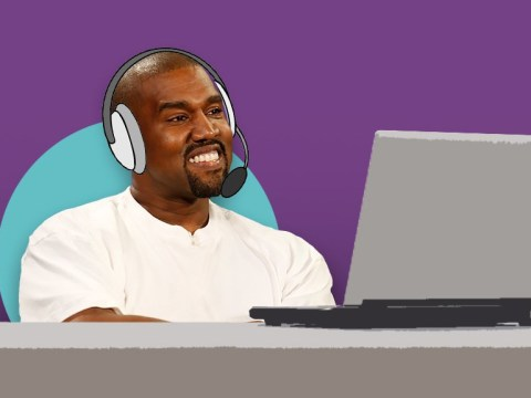 Kanye West used to be a telemarketer so now Kim Kardashian is always 'nice' to them