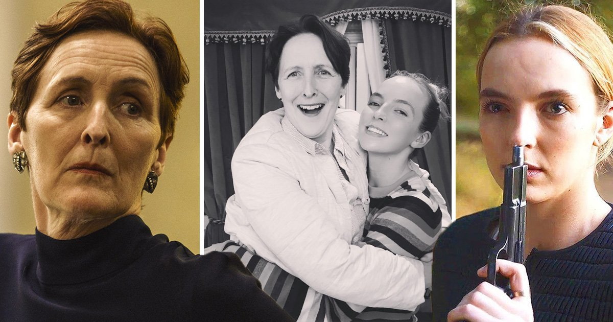 Jodie Comer and Fiona Shaw stage a mini Killing Eve reunion