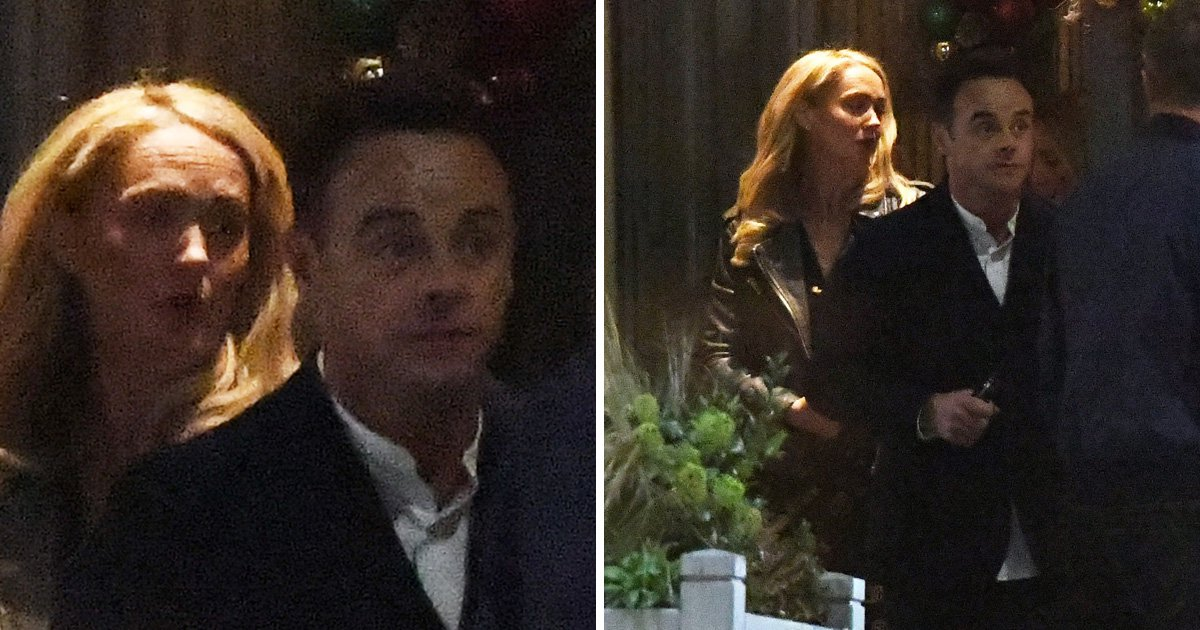 Ant McPartlin double dates with Anne-Marie Corbett as he swaps I'm A Celeb for chilly London