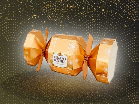 These Ferrero Rocher Christmas crackers look so good