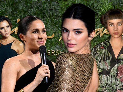 Kendall Jenner rocks nearly-naked dress as she joins Victoria Beckham and Meghan Markle at British Fashion Awards