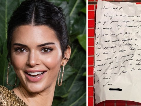 Kendall Jenner shares anonymous long-distance love letter… and people think it's Harry Styles's handwriting