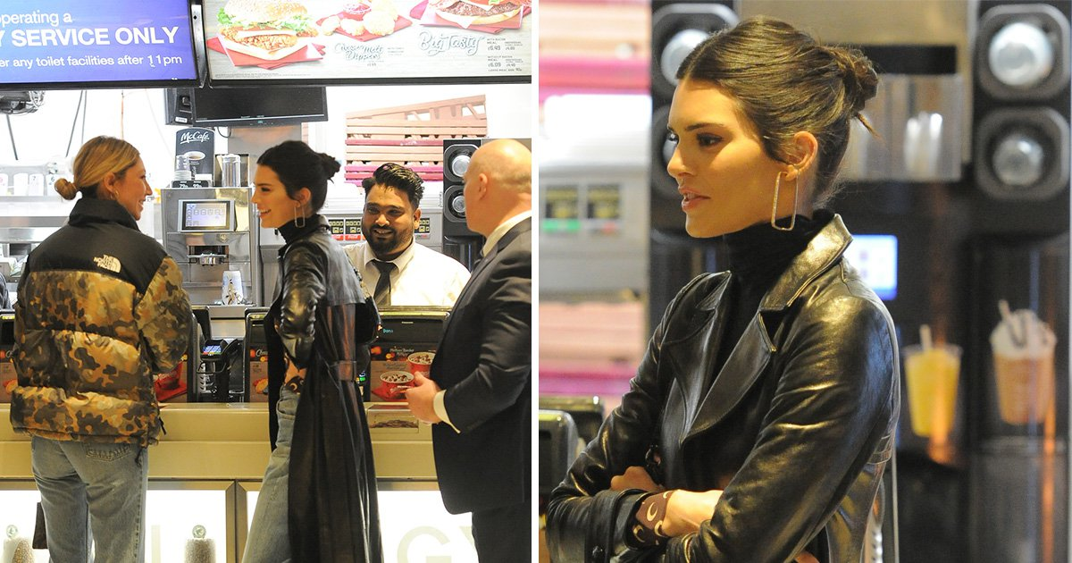 Kendall Jenner grabs a late-night McDonald's on Oxford Street after baring all at Fashion Awards