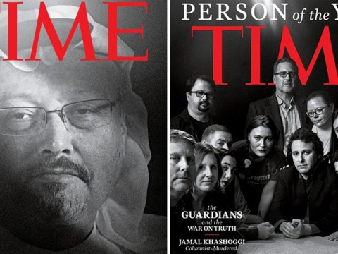 Murdered Jamal Khashoggi among journalists named as Time magazine's 'person of the year'