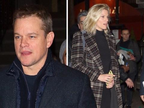 Matt Damon heads for dinner with Ben Affleck's ex-girlfriend Lindsay Shookus