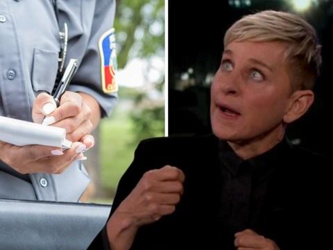 Ellen Degeneres brags she never gets speeding tickets because she's famous