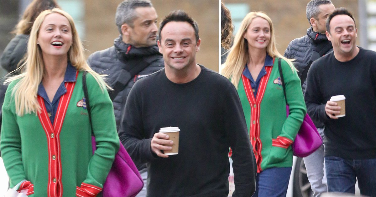 Ant McPartlin finds Christmas shopping hilarious as he and Anne-Marie Corbett share a laugh while getting festive