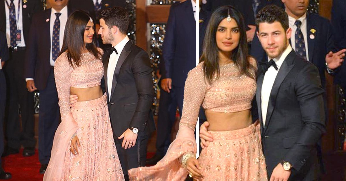 Priyanka Chopra and Nick Jonas check out the competition at wedding of India's richest heiress