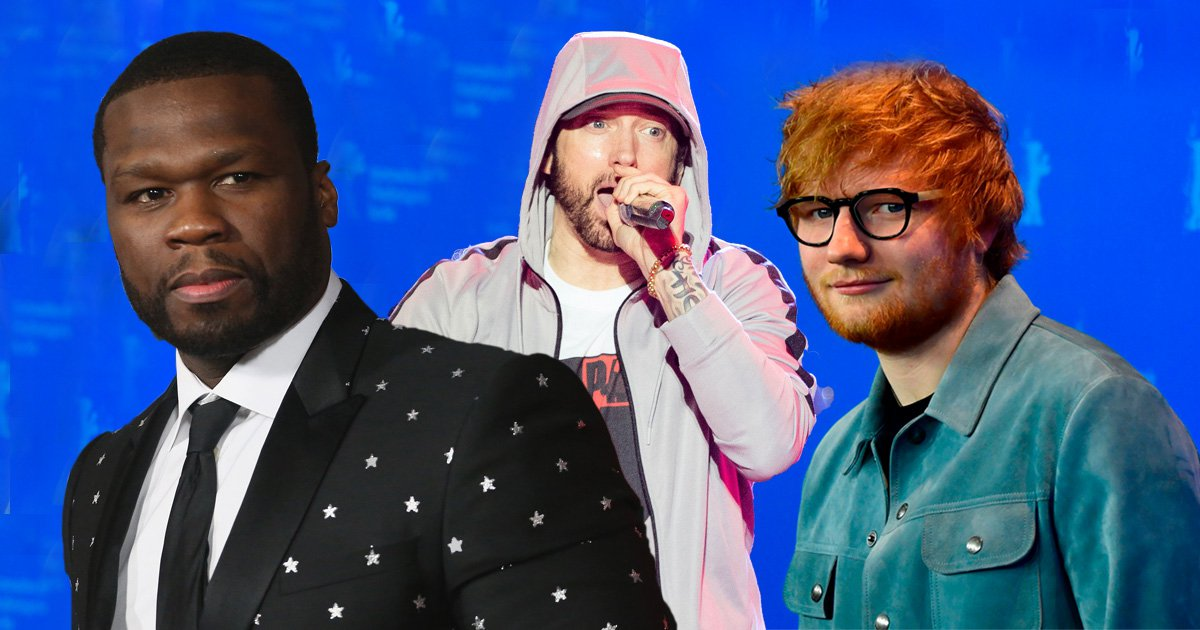 50 Cent 'got some heat' with Eminem and Ed Sheeran as the trio collaborate on new track