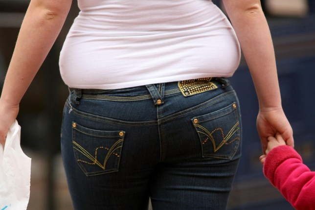 A generic stock image of an overweight woman in Bristol city centre.