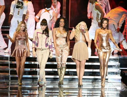 Mandatory Credit: Photo by Startraks Photo/REX/Shutterstock (718054ao) Spice Girls - Geri Halliwell, Melanie Chisholm, Melanie Brown, Emma Bunton and Victoria Beckham The Spice Girls World Tour concert, America - Dec 2007
