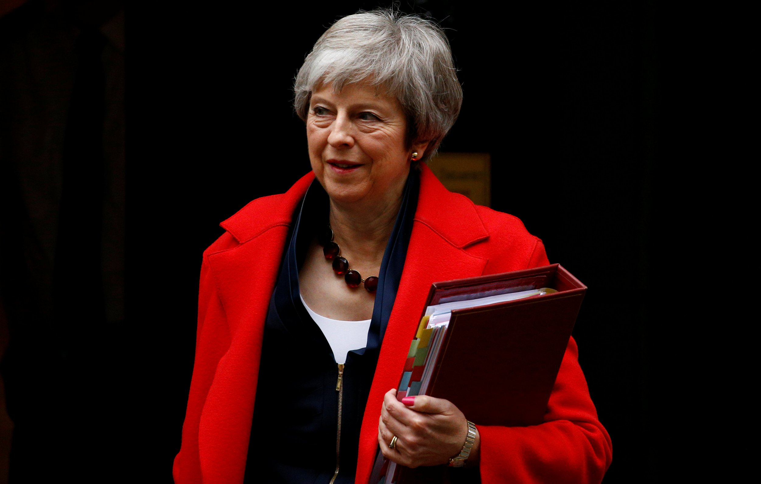 Britain's Prime Minister Theresa May leaves 10 in Downing Street in London, Britain, November 28, 2018. REUTERS/Henry Nicholls