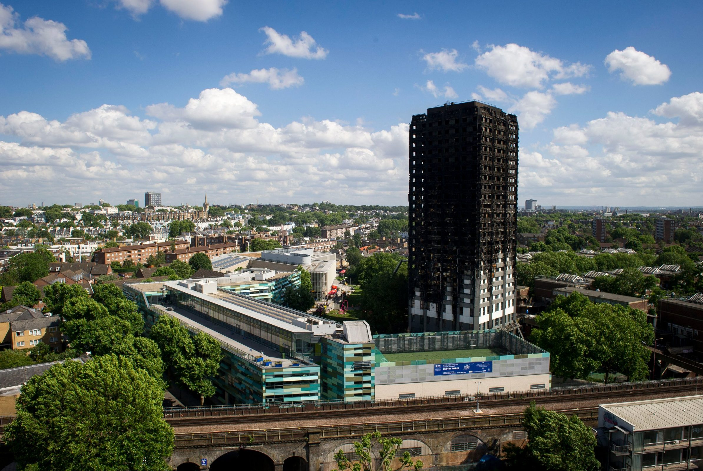 Mandatory Credit: Photo by Roland Hoskins/ANL/REX/Shutterstock (9721286a) Grenfell Tower North Kensington After The Horrific Fire. Grenfell Tower North Kensington After The Horrific Fire.