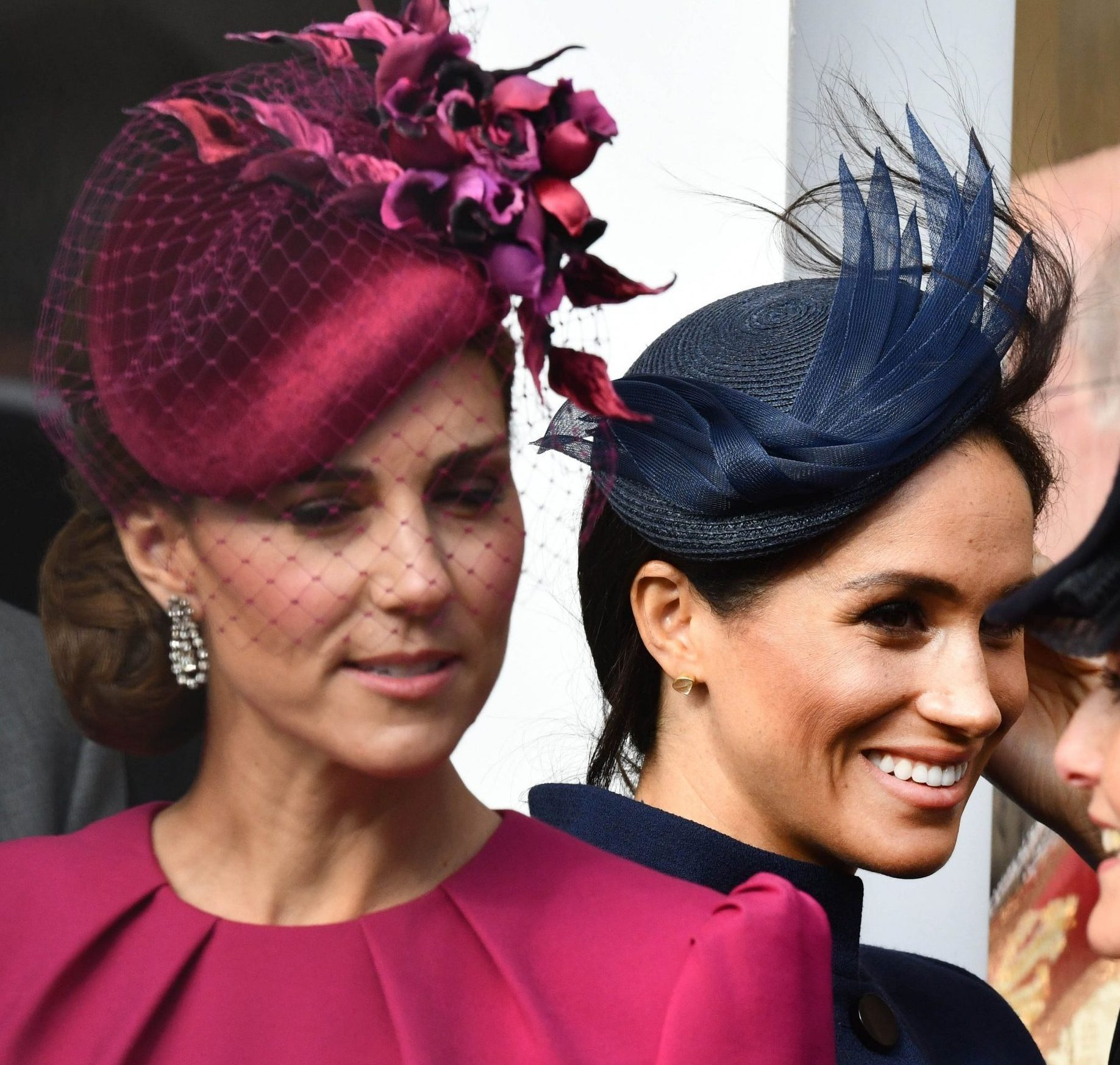 Mandatory Credit: Photo by REX/Shutterstock (9929951aa) Catherine Duchess of Cambridge and Meghan Duchess of Sussex The wedding of Princess Eugenie and Jack Brooksbank, Windsor Castle, Berkshire, UK - 12 Oct 2018