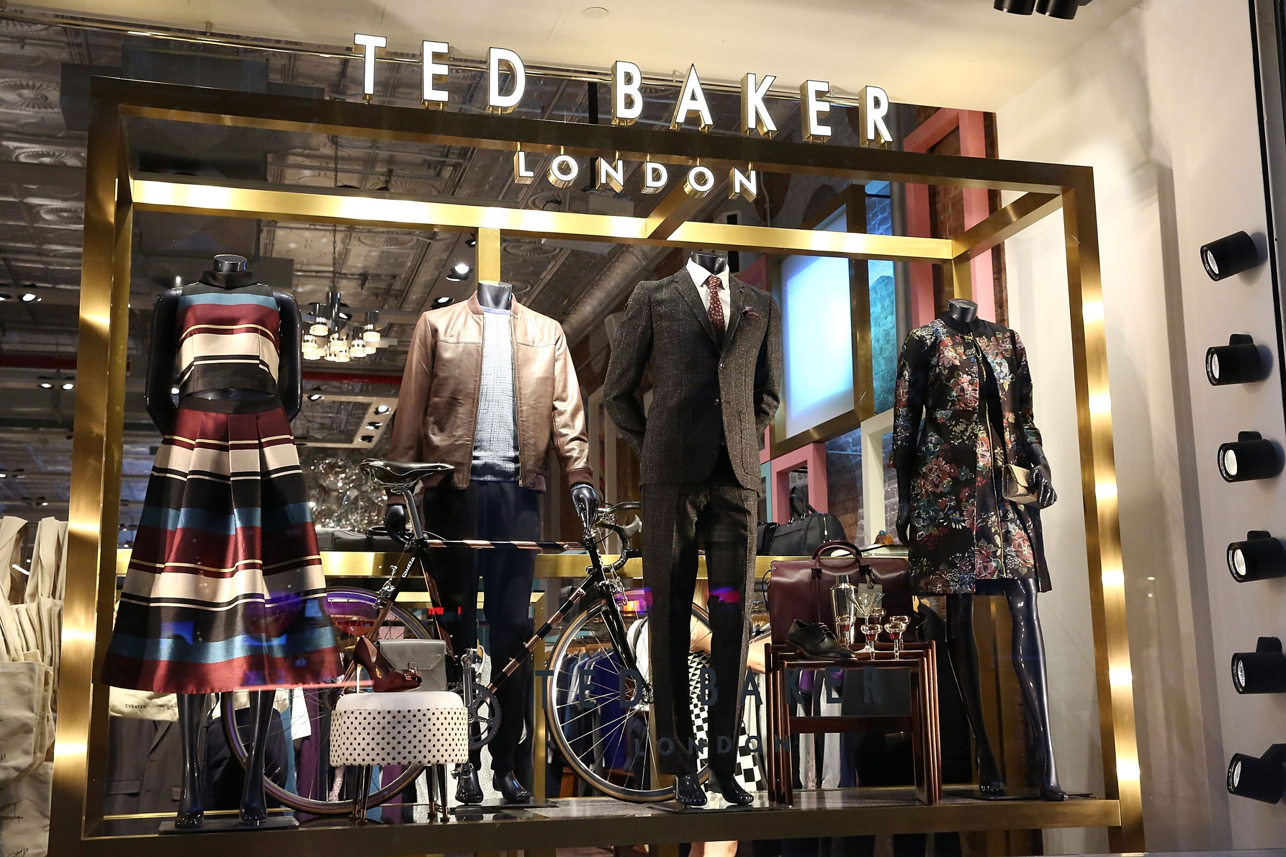 NEW YORK, NY - SEPTEMBER 22: Atmosphere inside the Ted Baker store during the Ted Baker Wooster VIP Event on September 22, 2016 in New York City. (Photo by Astrid Stawiarz/Getty Images for Ted Baker London)