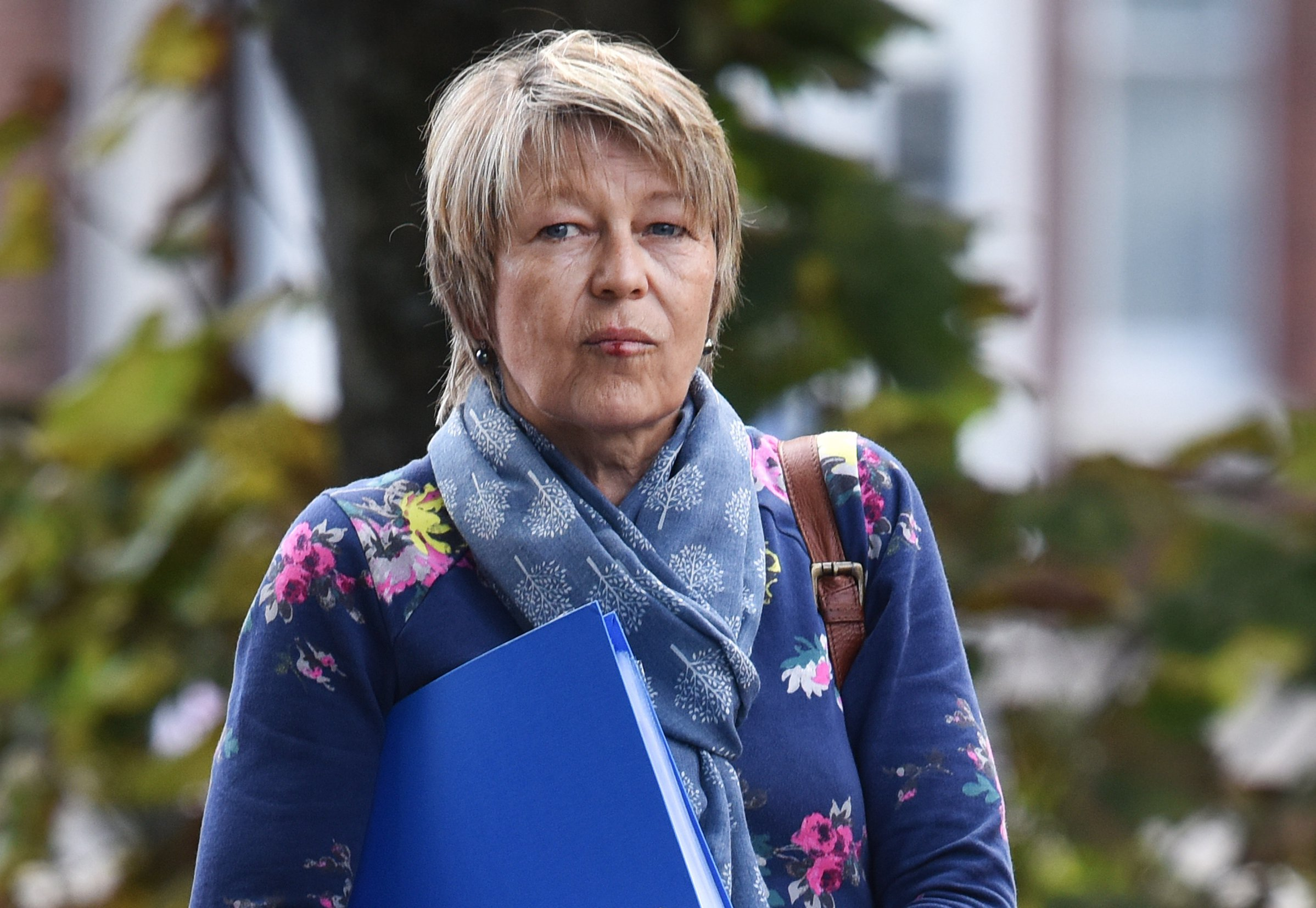 Pictured: Jane Farmer at Southampton Magistrates Court. A respected school secretary who lost her job after she was convicted of slapping a 15-year-old schoolboy has now appealed her conviction. Jane Farmer was found guilty of assault by beating and sentenced to 100 hours unpaid work after a trial at Southampton Magistrates Court, Hants. Farmer, who had enjoyed an unblemished 12-year career, struck the pupil while working at Arnewood School in New Milton, Hants. SEE OUR COPY FOR DETAILS. ? Solent News & Photo Agency UK +44 (0) 2380 458800
