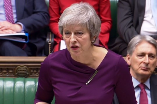 "A video grab from footage broadcast by the UK Parliament's Parliamentary Recording Unit (PRU) shows Britain's Prime Minister Theresa May as she makes a statement in the House of Commons in London on December 3, 2018, on the G20 Meeting in Argentina and trade. (Photo by HO / PRU / AFP) / RESTRICTED TO EDITORIAL USE - NO USE FOR ENTERTAINMENT, SATIRICAL, ADVERTISING PURPOSES - MANDATORY CREDIT "" AFP PHOTO / PRU ""HO/AFP/Getty Images"